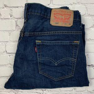 Levi's 569 Dark Wash Boot Cut Jeans